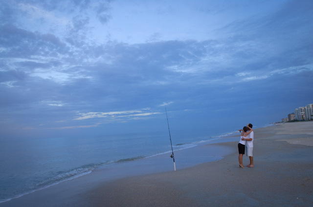 Romance at New Smyrna Beach, FL.