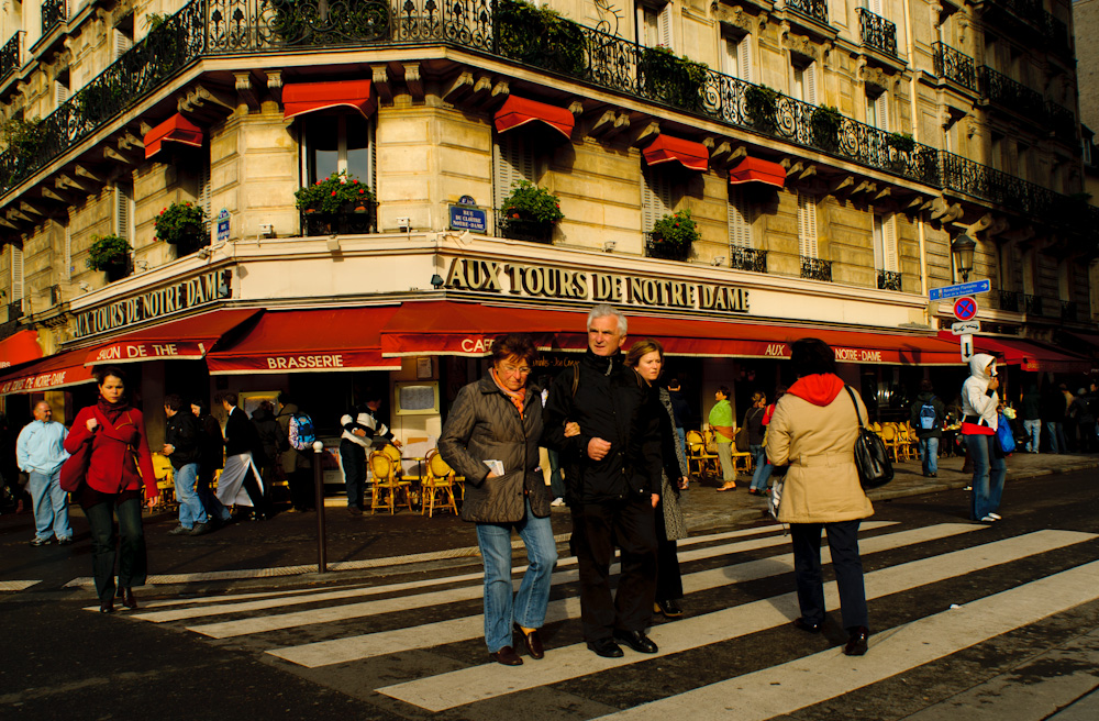 Street scene in Paris.