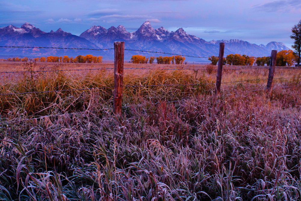 Gran Tetons at dawn. Jackson hole, Wyoming.