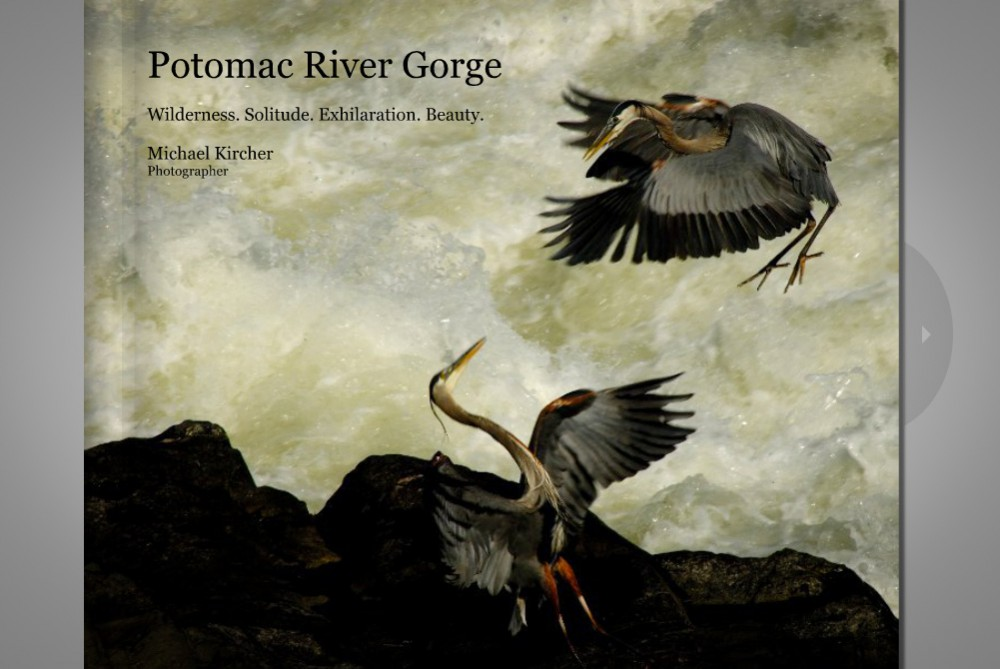 blurb book, potomac river gorge