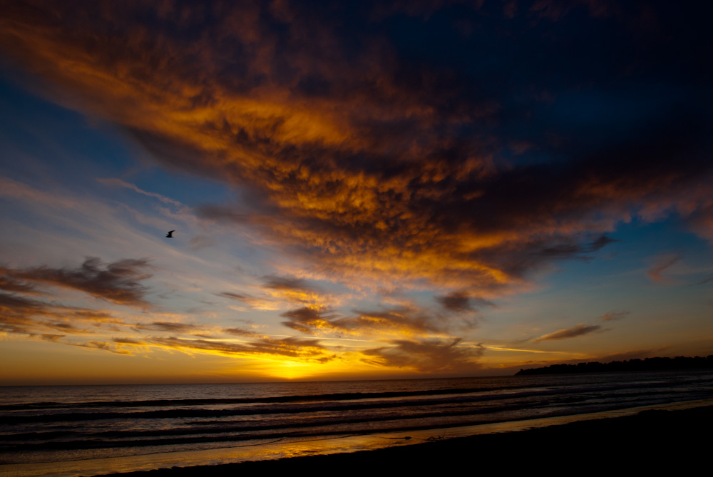 Sunset at Stinson Beach, California.