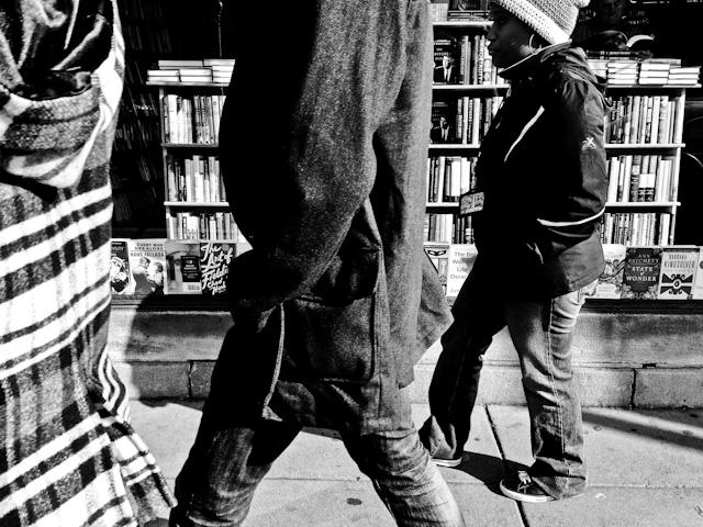 Walking past Kramer Books in Dupont Circle, Washington DC