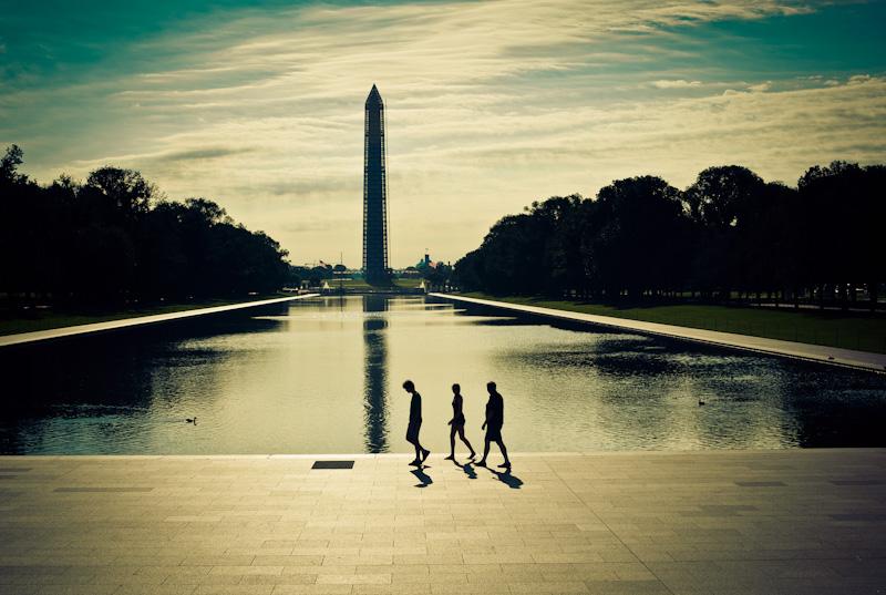 Washington Monument under repairs. July 2013.