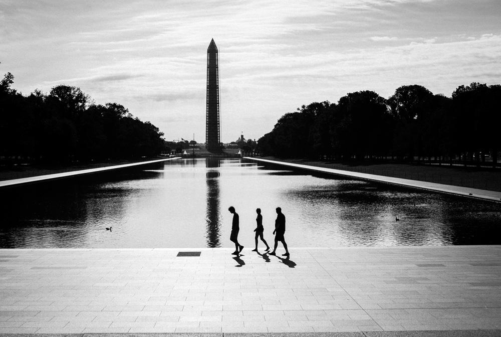 Washington Monument and reflecting pool. Washington DC.