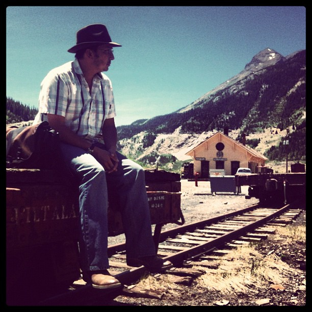 Photojournalist Jeremy Wade Shockley in Silverton, Colorado.