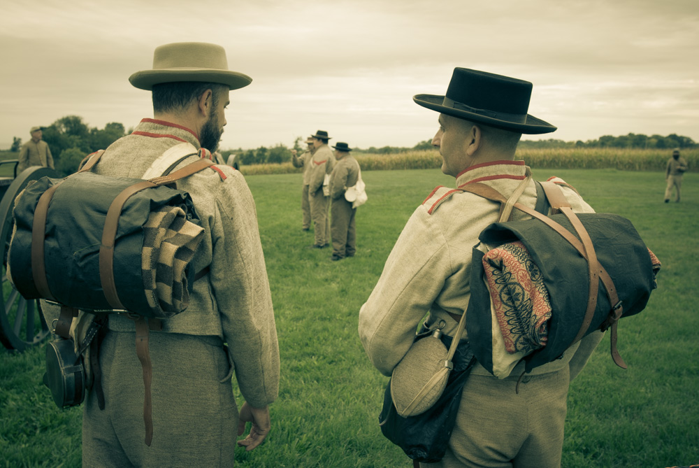 civil war re-enactors at Antietam National Battlefield. U.S. National Park Service