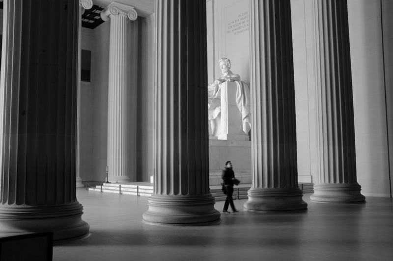 lincoln memorial interior, washington dc