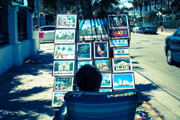 key west. street artist.