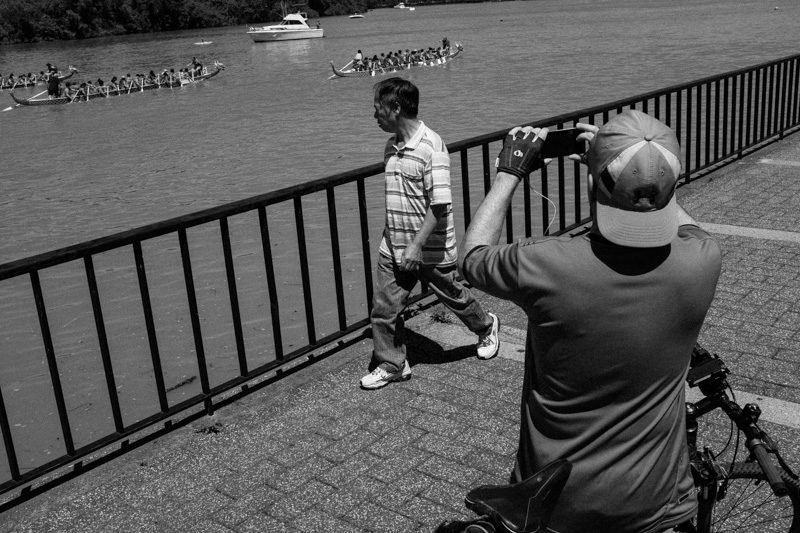 Spectators at 2014 Dragon Boat Festival. Washington DC.