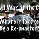 Civil War reenactors at the C&O Canal