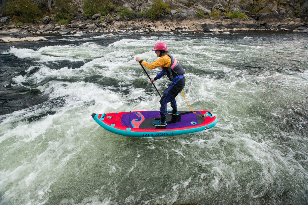 julie lang. stand up paddle board. potomac river. Hala Atcha 86