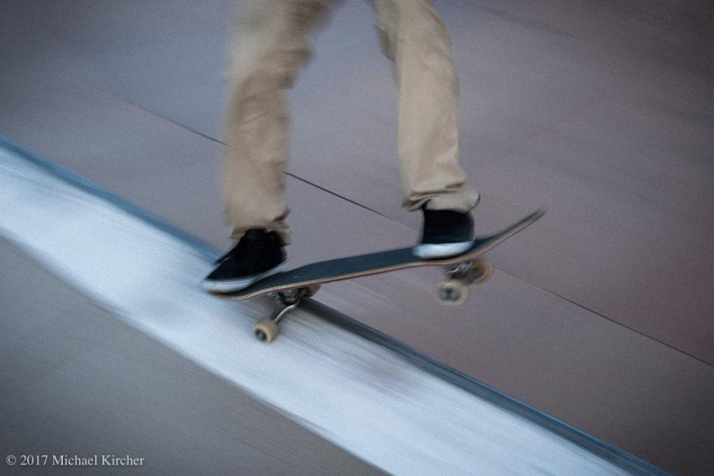 finding a line. skater grinding.