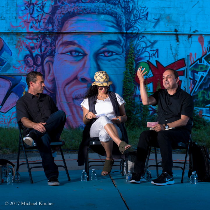 Ben Ashworth, Alice Mizrachi, & Teddy Cruz in Conversation at the Finding A Line bowl in DC.