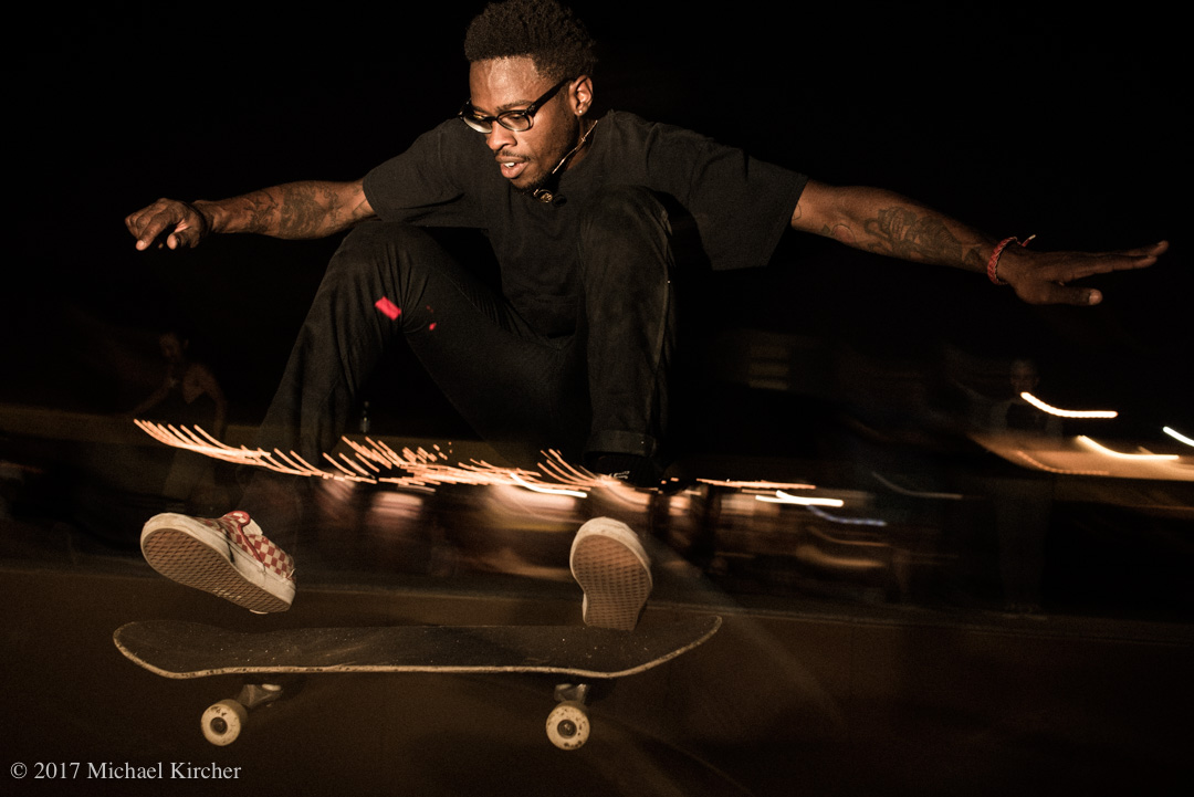 finding a line. daryl grier, skater designer for Tout Noir, flying!