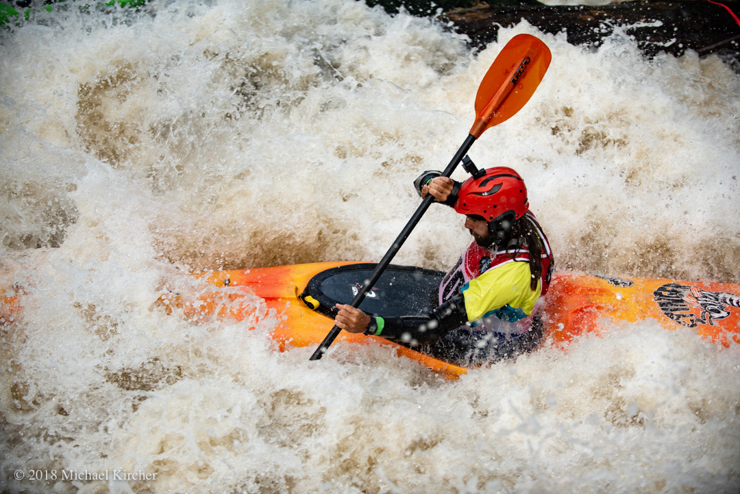 Kayaker Steven McKone at the Great Falls Race.