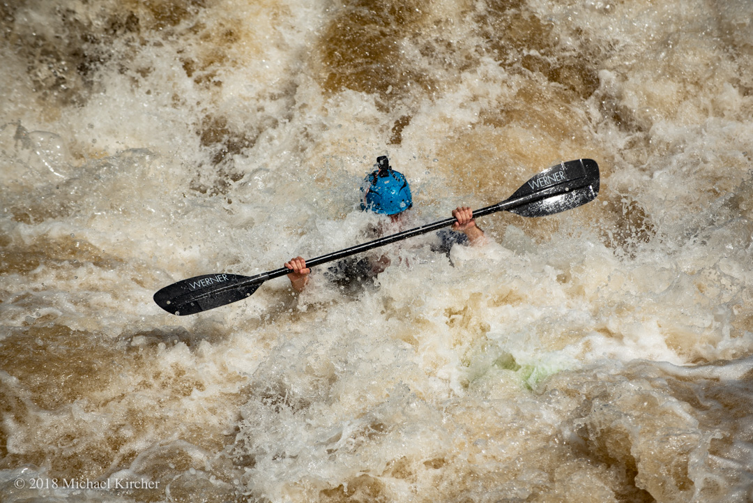 Kayaker at the Great Falls Race.