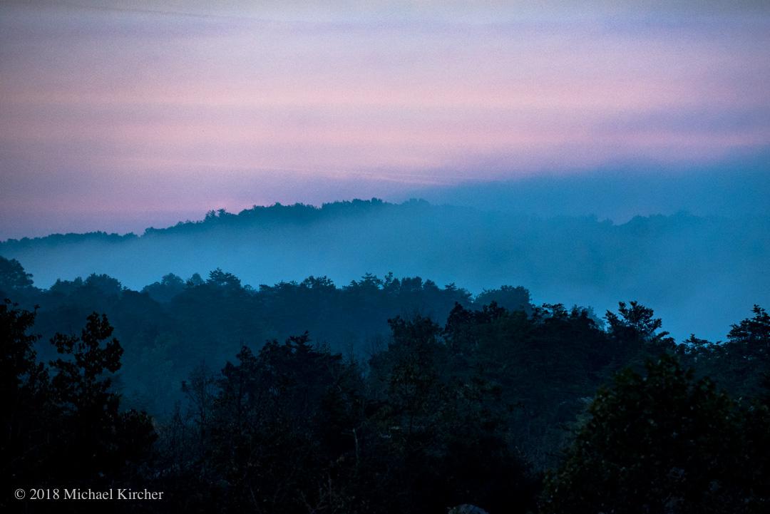 Fog at sunrise. C&O Canal NHP.